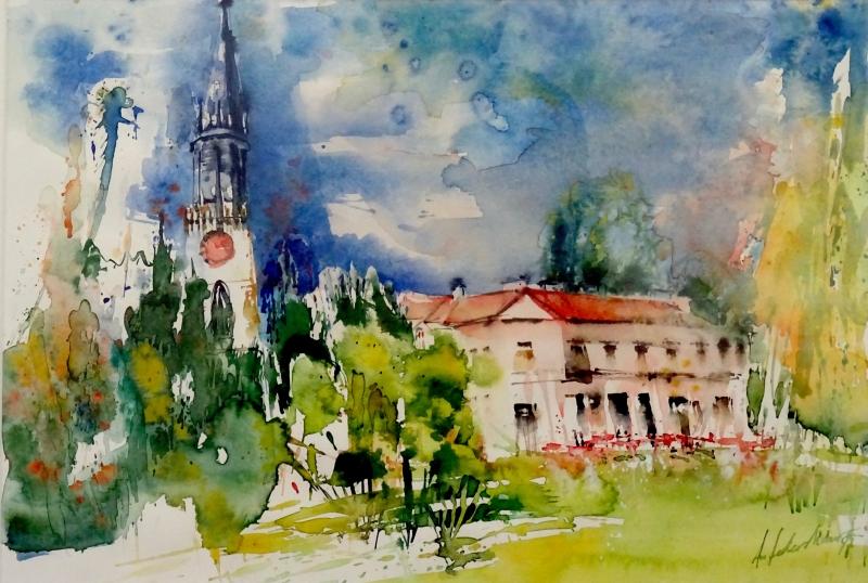 Villette und Kirchturm in Cham