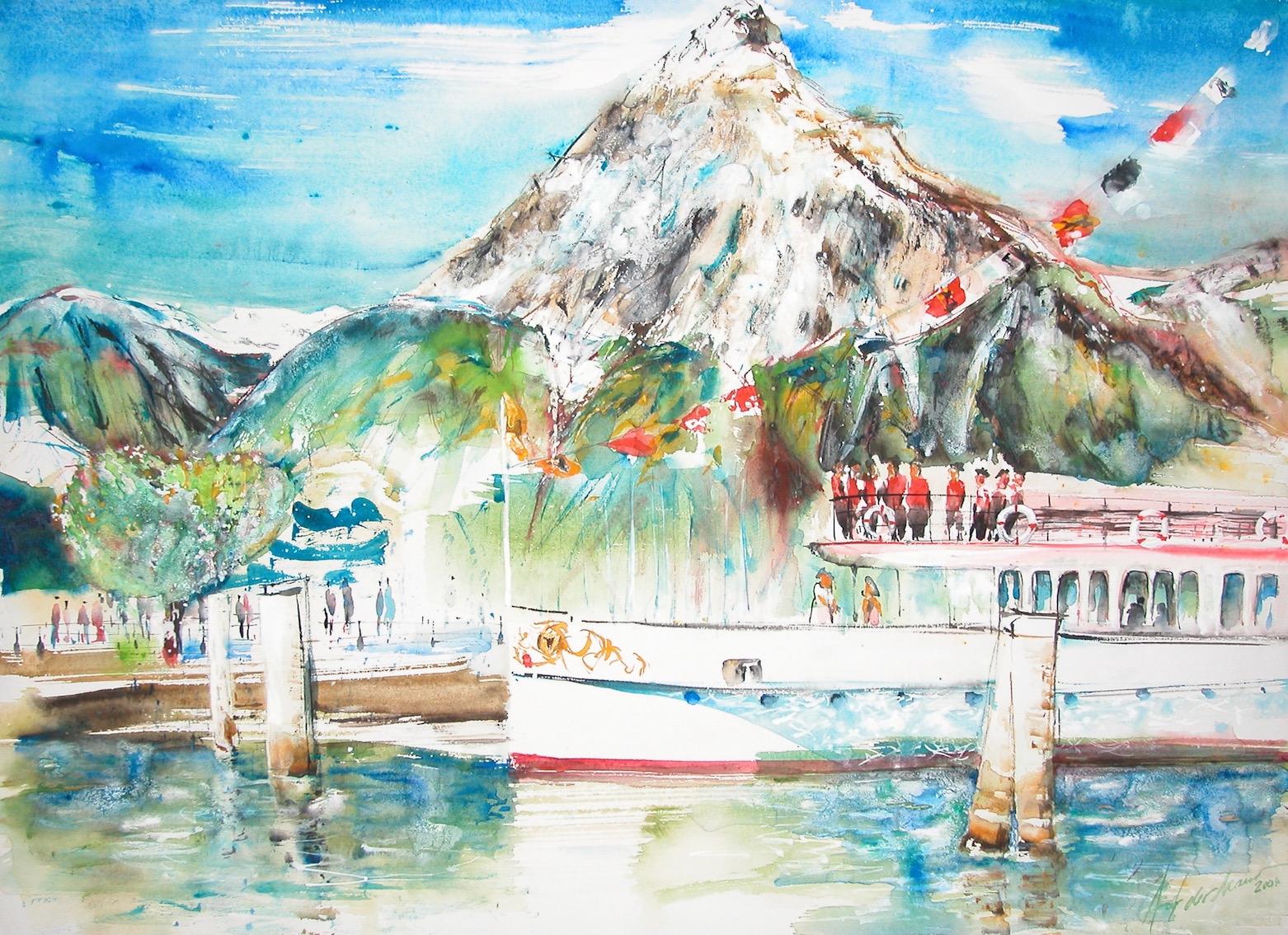 Dampfschiff Uri in Flüelen